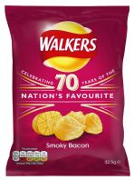 Walkers Crisps Smokey Bacon 32 x 32.5gm